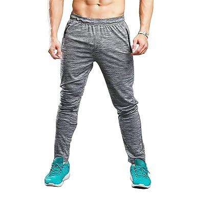 MEYINI Pantalones para Correr - Hombres Pantalones de chándal ...