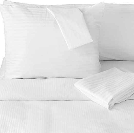 Pillow Protector Case 100/% Cotton Hypoallergenic Zippered Closure Cover 4 Pack