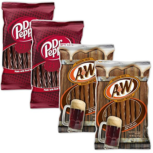 Kenny's Juicy Twists - Variety 4 Pack - Dr. Pepper and A&W Root Beer - Nt Wgt. 20 oz ()