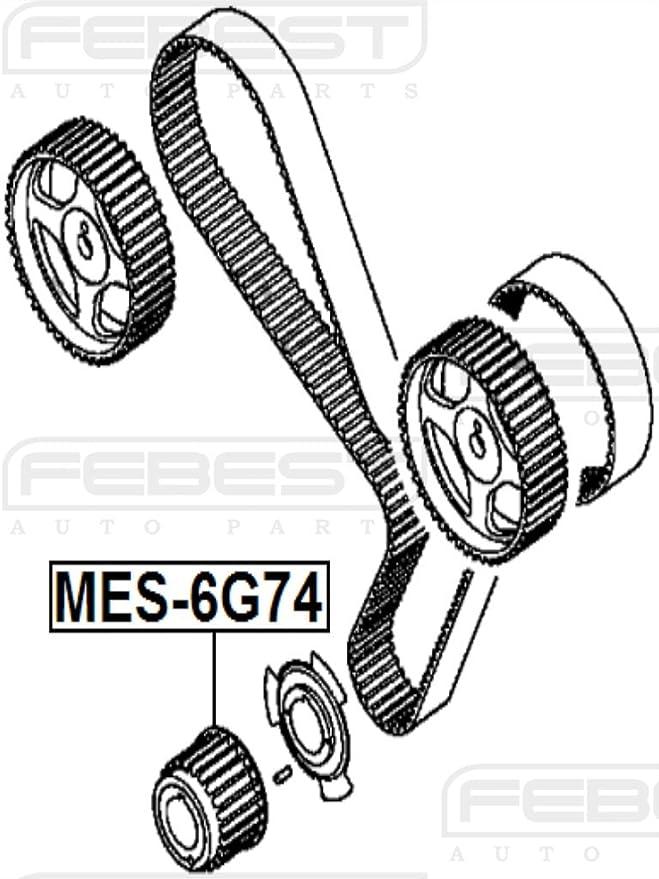 Amazon Com Febest Mes 6g74 Crankshaft Timing Pulley Automotive
