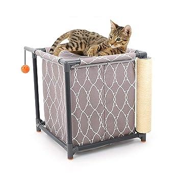 XDYFF Árbol para Gato con Rascador Casitas para Gatos Combinación extraíble para Gatos Juguete para agarrar