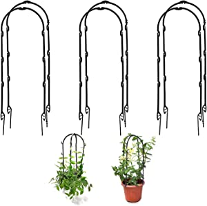 Sirozi 3 Packs Potted Plants Climbing Trellis, 11 inch Garden Plant Grow Climbing Supporter Flowers Stands Support Stake for Rose Vine Pea Cucumber Clematis