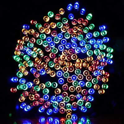 Pantan Solar String Lights,Outdoor/Indoor 8 Modes 200 LED Fairy Waterproof Lighting for Camping, Garden, Patio, Backyard, Fence and Holiday Decorations,72ft 22m (Multi Color)