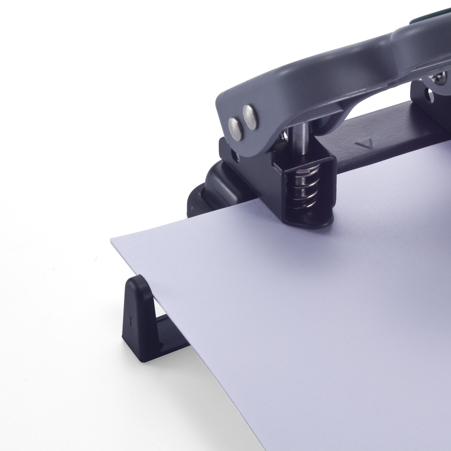 25 Sheet Capacity Recycled Officemate Contemporary 2-Hole Eco-Punch 90134 Black//Gray//Green Officemate International