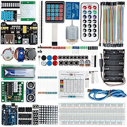 eDealMax UNO R3 último kit de inicio Para Foundmental Arduino Para el bricolaje monopastilla Arduino