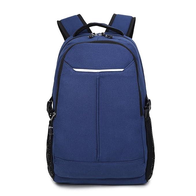 Minetom Lona Backpack Mochilas Escolares Mochila Escolar Casual Bolsa Viaje Moda Escarabajo Forma Unisex Azul One