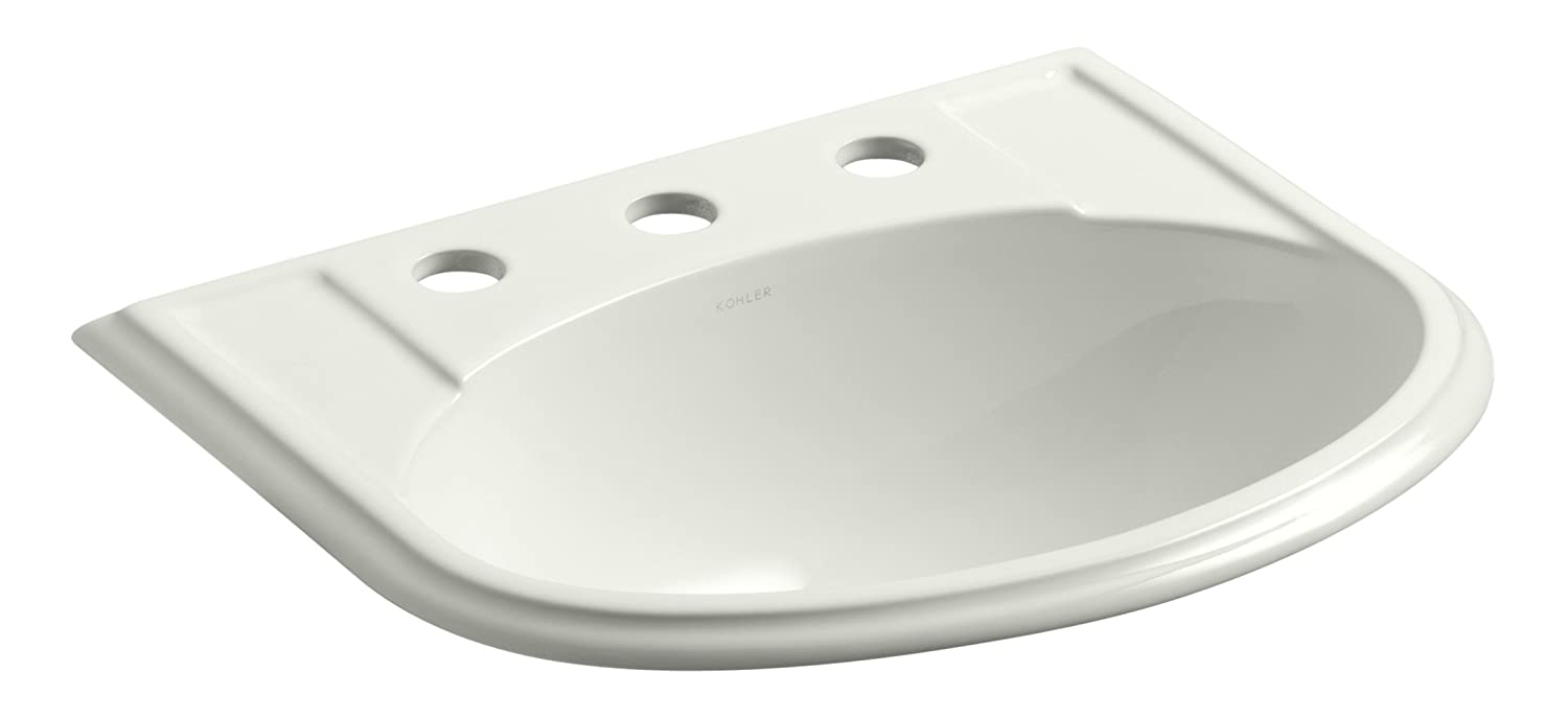 KOHLER K-2279-8-NY Devonshire Self-Rimming Bathroom Sink with 8 Centers, Dune
