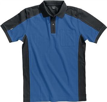 FHB Polo de Konrad Talla L Azul de Negro 65% BW/35% Pes 300 g/m² ...
