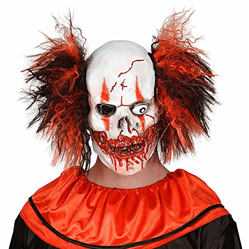 [XIAO MO GU Latex Halloween Party Cosplay Face Mask Crazy Clown Costumes Mask Creepy Funny for] (Couples Scary Costumes)