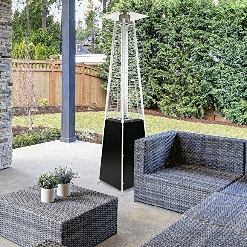 Green Heater Patio (Garden Radiance GRP3500BK ''Dancing Flames'' Black Pyramid Outdoor Patio Heater)