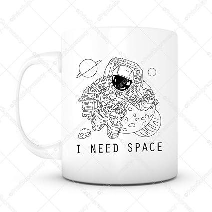 Amazon com   Funny Mug I Need Space -11 oz Lead Free Ceramic Coffee