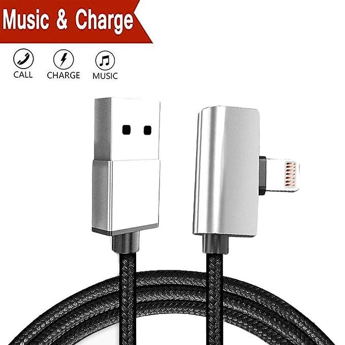 Cable de Carga Lightning con Adaptador de Audio para iPhone ...