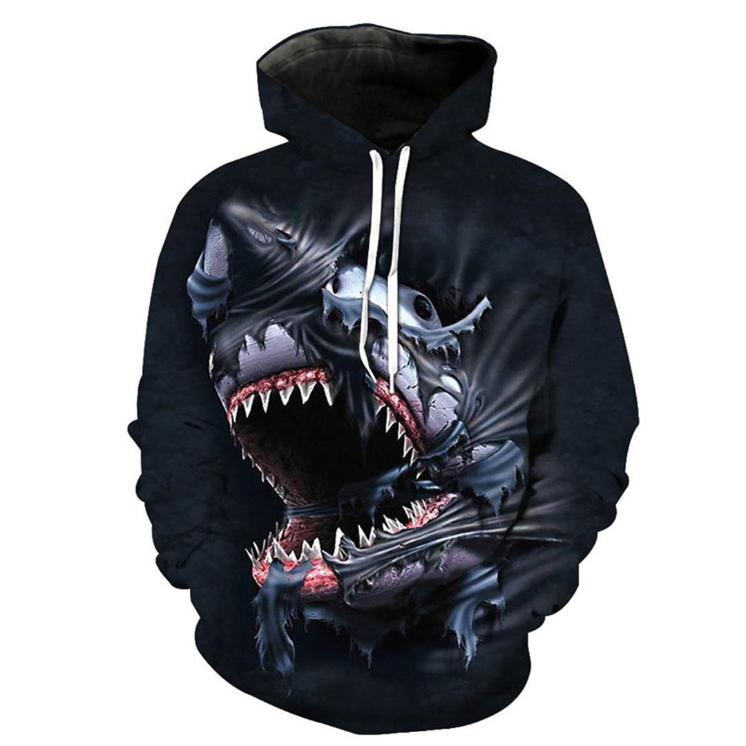 DAZZIYLD 3D Giant Beast Print Hoodies Sweatshirts Men Women Sweatshirt at Amazon Mens Clothing store: