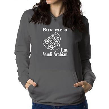 Teeburon BUY ME A I AM Saudi Arabian Sudadera con capucha para mujer: Amazon.es: Ropa y accesorios