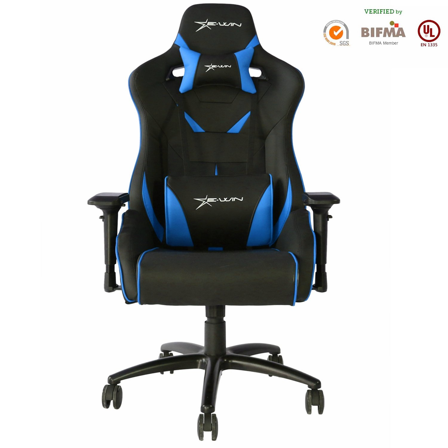 [Large Size]E-WIN Gaming Chair Racing Style Computer Chair 4D Armrest With Headrest and Lumbar Support Ergonomic Designs
