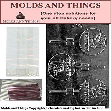 De bautizo para diseño de oveja y caracol moldes para Chocolate © con moldeado manual de + 50 juego de color de piruleta de: Amazon.es: Hogar