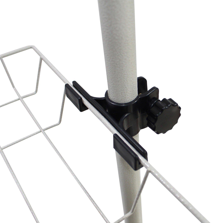 Todeco 320 x 200 cm Wei/ß Teleskop-Kleiderst/änder Material: PP Teleskop Kleiderschrank Organiser Maximale Belastbarkeit: 90 kg