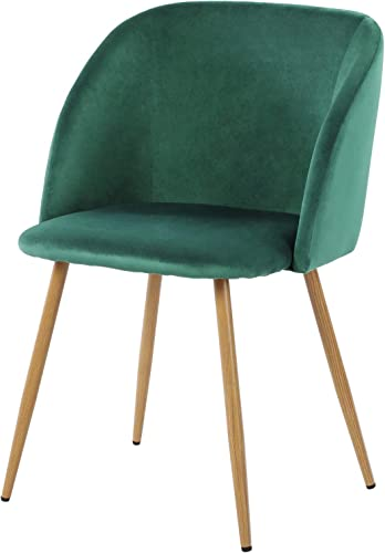 H.J WeDoo Velvet Dining Chairs Upholstered Armchair Mid Century Modern Chairs Living Room Chair Makeup Accent Chair Side Leisure Chairs