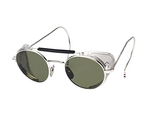 4aafc9869640 Sunglasses THOM BROWNE TB 001 A-T Shiny Silver w  G15 at Amazon ...