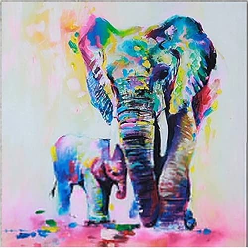 Yeyo Large Elephant Art Wall Painting Decoration Wall Art Printed on Canvas Oil Painting with Stretched and Framed Artwork Paintings on Wall Art Ready to Hang for Living Room Bedroom Home Decorations