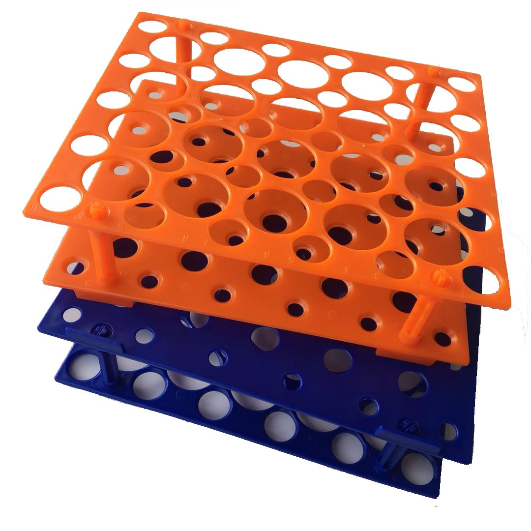 50 Well Orange /Blue Centrifuge Tube Rack for 10ml/15ml/50ml(Two Packs) (Orange/Blue) by Zhi Ying