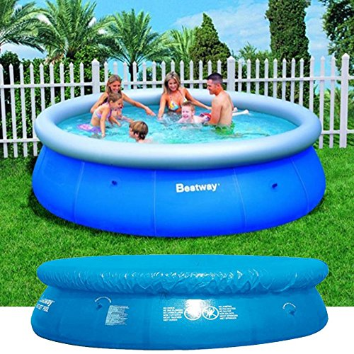 Bestway Fast Family Quick Up Pool Planschbecken Swimmingpool 244cm + Abdeckplane