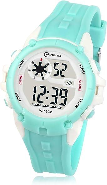 Relojes para Niños Niñas Digital, Reloj Infantil Impermeable Deportivo Reloj de pulsera Digital Sumergible Multifuncional para Exteriores con Alarma / Cronómetro Adecuado para Niños de 5 a 14 años: Amazon.es: Relojes