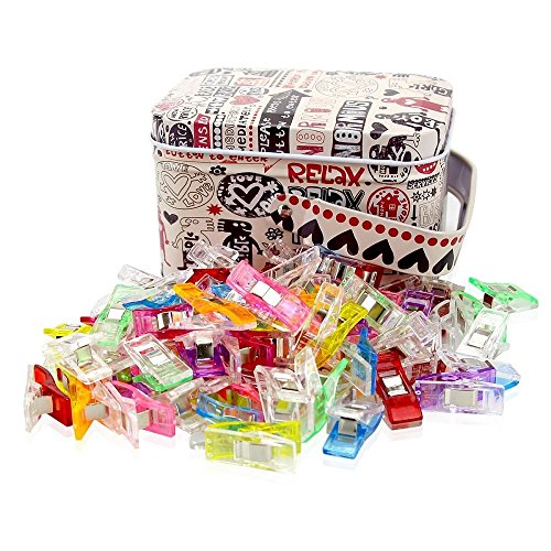 - Sewing Clips Multicolor for Sewing Craft Clamps, Crafting, Crochet and Knitting, All Purpose Clips for Quilting Binding Clips, Fabric Clips, Paper Clips, Blinder Clips. Tin Box Package (100 PCS)