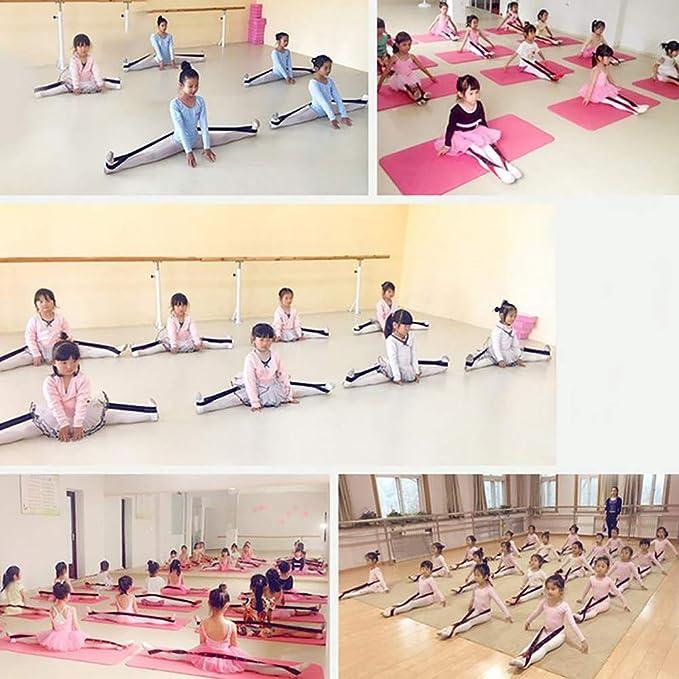 KRUIHAN 2 Piezas Niñas Baile Latino Bandas de Resistencia-Pilates Yoga Cinturón Elástico de Estiramiento Cinturón Elástico de Ballet Cuerda de ...