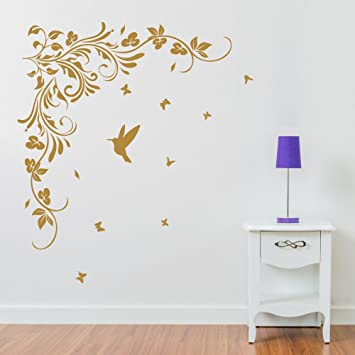 cd1459799c Butterfly Vine Flower Wall Decorations Window Stickers Wall Decor Wall  Stickers Wall Art Wall Decals Stickers