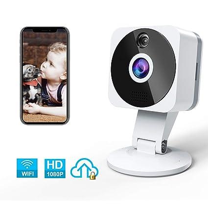 Camara IP WiFi, NIYPS HD 1080P Camara Vigilancia con Vision Nocturna, Audio de 2