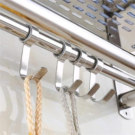 Libina Ba/ño De Acero Inoxidable Toallero Rack Multi-Funci/ón Montado En La Pared Toalla Doble Rack Home Hotel De Almacenamiento De Inodoro Estante,40Cm
