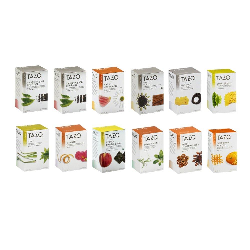 Tazo Tea 11 Flavor Sampler Variety Pack (12 Pack) by TAZO