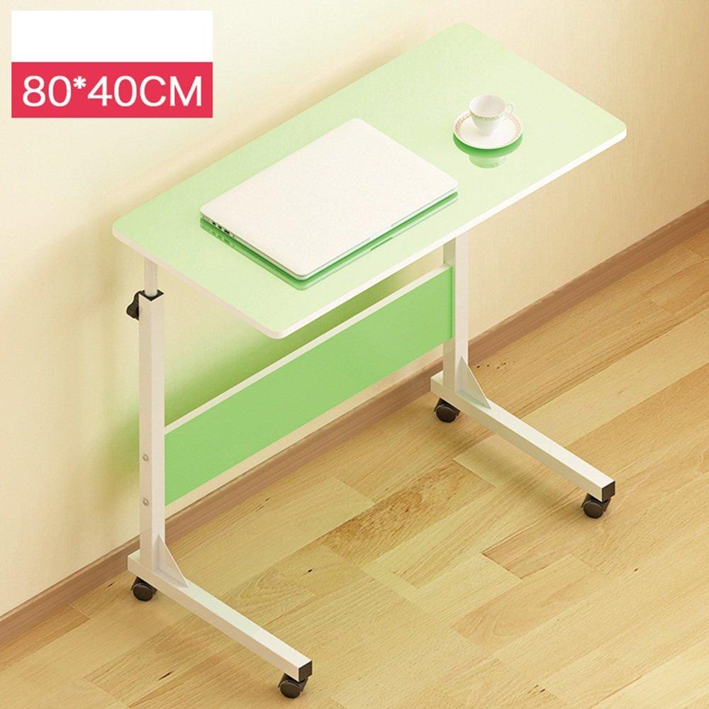 YNN デスクトップラップトップテーブル怠惰なベッドサイドベッド使用家庭用デスク折り畳みモバイルスモールテーブル(80 * 40cm) (色 : 緑) B07DS7W64F 緑 緑