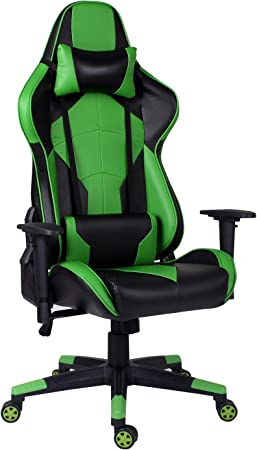 Hadwin Gaming Chair Pc Computer Office Chair With Back And Neck Support Ergonomic Desk Chair High Back Leather Pc Office Chair Amazon Co Uk Kitchen Home