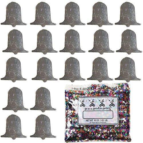 Confetti Bell Silver - One Pound Bag (16 oz) Free Priority Mail --- (CCP8717) (Silver Confetti Bells)