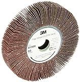 3M Flap Wheel 741A, Ceramic, 6'' Diameter x 1'' Width, 60 Grit (Pack of 5)