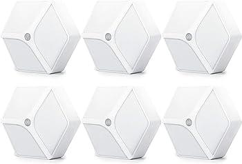 6-Pack Mitaohoh 12 LED Battery-Powered Motion Sensor Night Lights