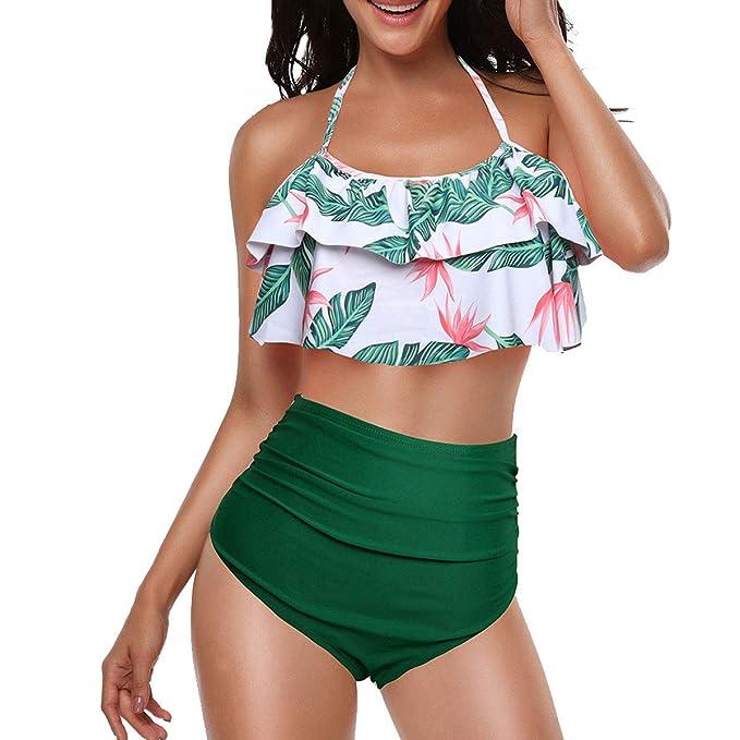 Amazon.com: Sporzin - Bikini de cintura alta de estilo retro ...
