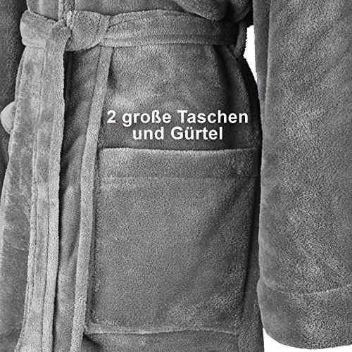 Gräfenstayn Accappatoio cappuccio con Standard di colori uomo Öko pile 100 taglia con dalla amp; diversi S donna alla in certificazione pile Tex flanella Grigio XXXL in morbido in rrdqwT18x