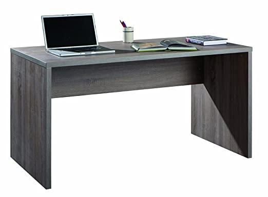 10 opinioni per Scrivania larga e moderna legno ufficio legno rovere tartufo SR5140 L178h75p69