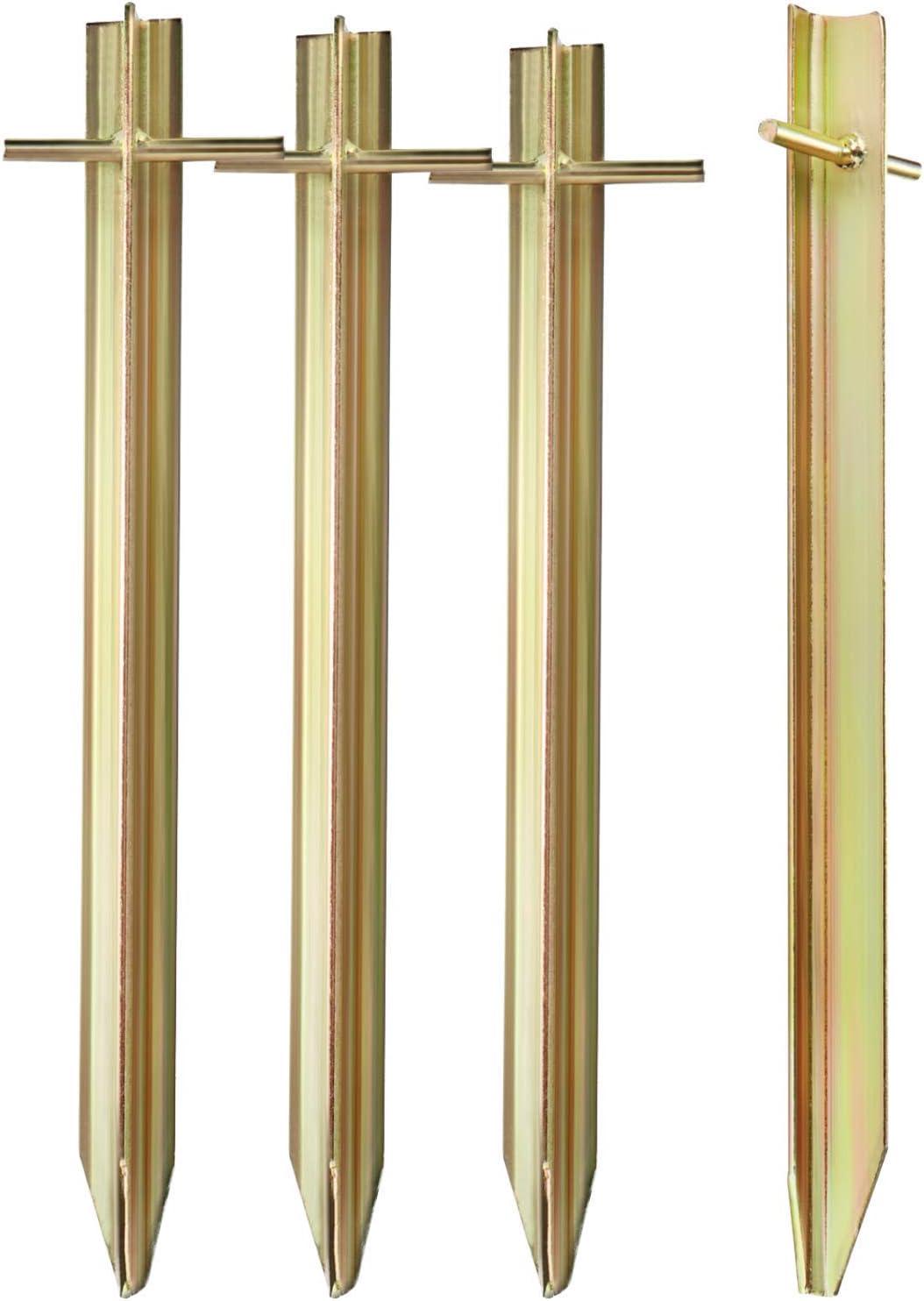 ideal f/ür normalen Boden com-four/® 16x Zelt-Heringe aus Stahl robuste Erdn/ägel in V-Form f/ür Camping und Outdoor