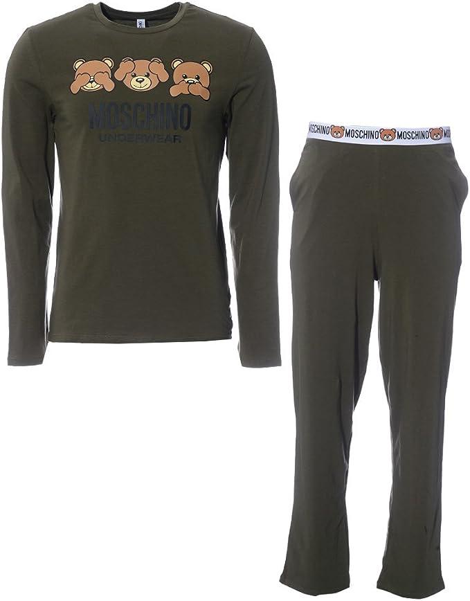 Moschino - Pijama - para hombre Verde caqui UK L: Amazon.es: Ropa y accesorios