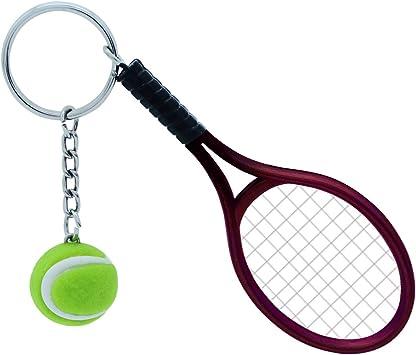 TOYMYTOY Llavero de Tenis, Novedad Rojo Pelota de Tenis ...