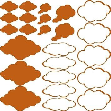GRAZDesign 770090_57_083 Wandtattoo Wolken Klein Groß | Dekoration Für  Kinderzimmer   Jungs Und Mädchen   Für