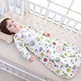 Floral Detachable Sleeve Organic Cotton Baby Sleep Bag Sack Wearable Blanket M