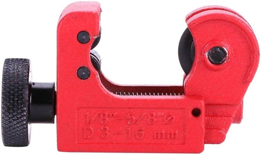 Mini cortador de tubo y tubo ajustable de aleación de zinc herramienta de corte para 3~16 mm (1/8~5/8 pulgadas) cobre latón aluminio acero PVC tubos de plástico
