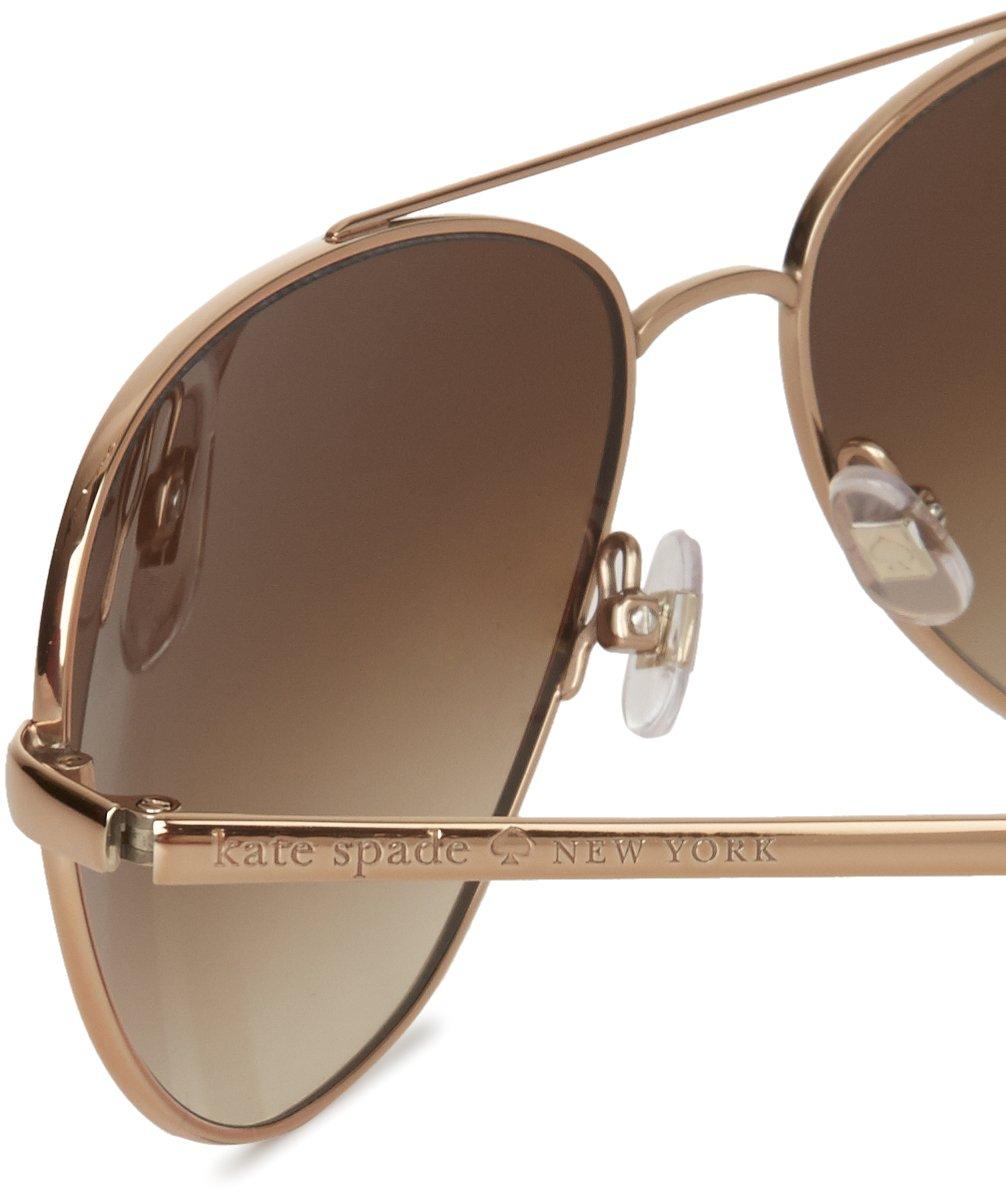 fd41d6b514dbc Kate Spade Avaline S Sunglasses - 0AU2 Rose Gold (Y6 Brown Gradient Lens) -  58mm