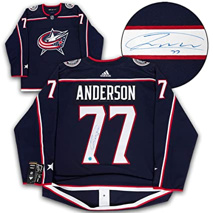 52f1465a879 Josh Anderson Columbus Blue Jackets Autographed Adidas Authentic Hockey  Jersey