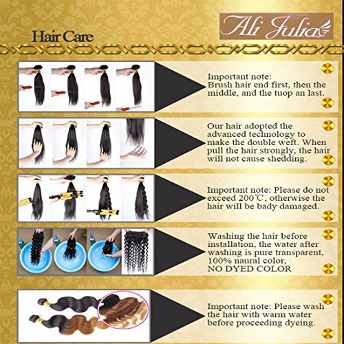 ALI JULIA Wholesale 3-Pack Malaysian Virgin Curly Hair Weave Real Human Hair Weft Extensions Cheap Bundle Hair Products Natural Color 95-100g/pc (16 18 20 inches) by Yilian (Image #6)
